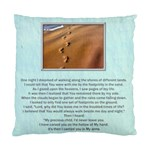 Footprints in the Sand 2 sided cushion - Standard Cushion Case (Two Sides)