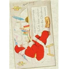 Vintage Santa Claus By Krystal   Greeting Card 5  X 7    Ugqkan23vl6w   Www Artscow Com Front Cover