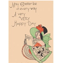 Vintage Art Deco Easter Card By Krystal   Greeting Card 5  X 7    Vnox2sdibyoi   Www Artscow Com Front Cover