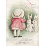 Vintage Art Easter Card - Greeting Card 5  x 7