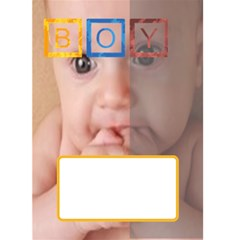 Baby Boy By Joely   Greeting Card 5  X 7    H68ig7jajiv0   Www Artscow Com Front Cover