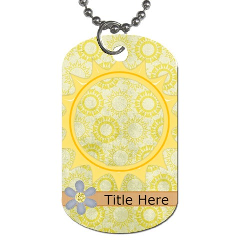 Rise & Shine Dog Tag Sun By Bitsoscrap   Dog Tag (one Side)   2s0l5ztlvef2   Www Artscow Com Front