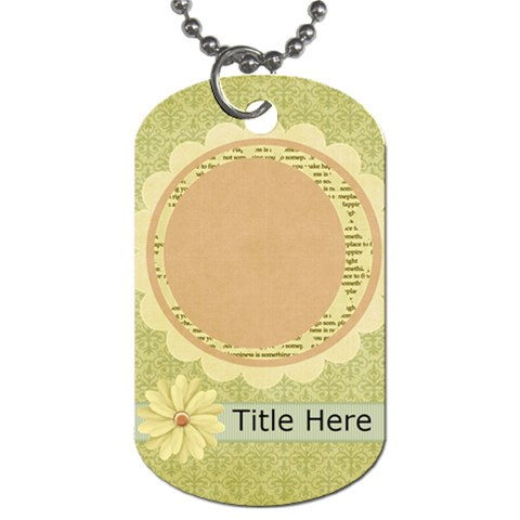 Rise & Shine Dog Tag Flower By Bitsoscrap   Dog Tag (one Side)   Nkfmrkogehyk   Www Artscow Com Front