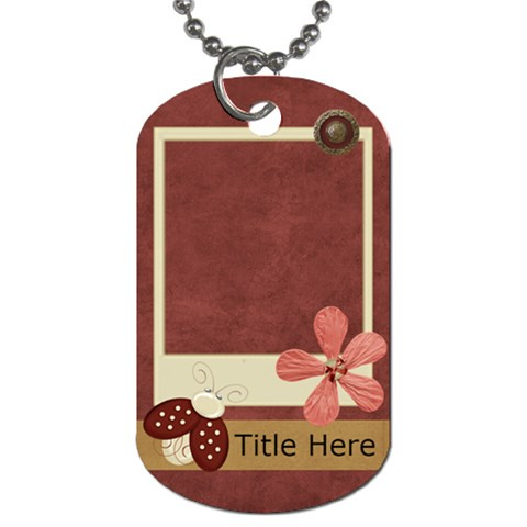 Blissfull Bella Dog Tag2 By Bitsoscrap   Dog Tag (one Side)   C2tl81aejlim   Www Artscow Com Front