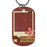 Blissfull Bella Dog Tag2 - Dog Tag (One Side)