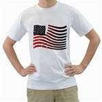 USA_FLAG_38 White T-Shirt