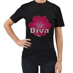 diva t-shirt - Women s T-Shirt (Black)