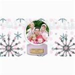 winter holiday christmas card - 4  x 8  Photo Cards