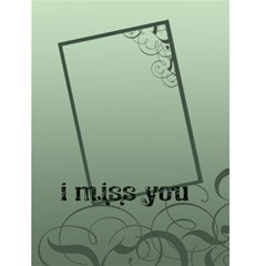 "I Miss You      4 5"" X 6"" Greeting Cards By Carmensita   Greeting Card 4 5  X 6    Ydsef307ra8f   Www Artscow Com Front Cover"