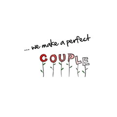 Perfect Couple   Custom Greeting Card 5  X 7  By Carmensita   Greeting Card 5  X 7    Yt29z9uxiiam   Www Artscow Com Back Inside
