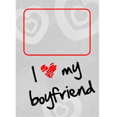I Love My Boyfriend     Custom Greeting Card 5  X 7  By Carmensita   Greeting Card 5  X 7    Qtveqn8gtafq   Www Artscow Com Front Cover