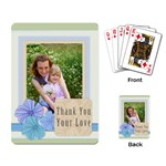 thank you your love - Playing Cards Single Design