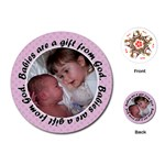 Round Baby Girl Quote Playing Cards - Playing Cards (Round)