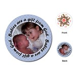 Round Baby Boy Quote Playing Cards - Playing Cards (Round)