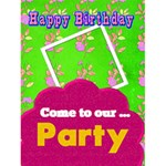 birthday invite or luau invite - Greeting Card 4.5  x 6