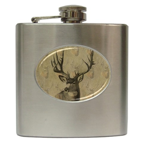 Buck Flask For Men By Danielle Christiansen   Hip Flask (6 Oz)   0cq1x4k2cle8   Www Artscow Com Front