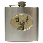 buck flask for men - Hip Flask (6 oz)