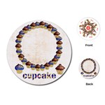 Cupcake round playing cards - Playing Cards (Round)