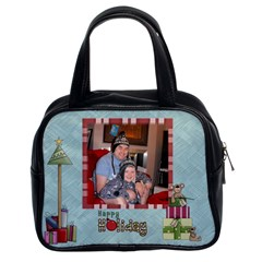 Happy Holiday Christmas Handbag Template By Catvinnat   Classic Handbag (two Sides)   B72lkeiabx4m   Www Artscow Com Front