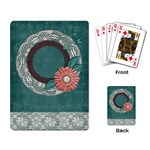 Playing Cards- flower frame - Playing Cards Single Design