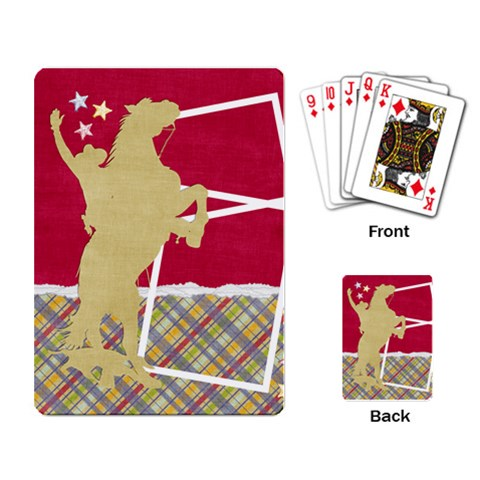 Playing Card  Cowboy Template By Mikki   Playing Cards Single Design   X1zakm7103ef   Www Artscow Com Back