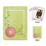 Playing Card- Flower, Work Hard, Play Harder - Playing Cards Single Design