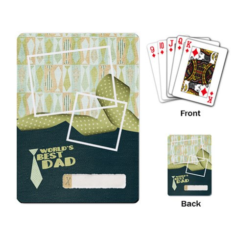 Playing Cards  Father, Dad Design By Mikki   Playing Cards Single Design   Jmk9eip7uhc4   Www Artscow Com Back
