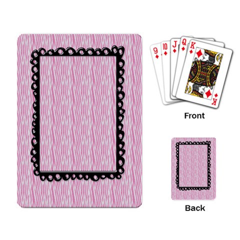 Playing Cards  Pink Zebra By Mikki   Playing Cards Single Design   Ejmfr1dxqqcd   Www Artscow Com Back