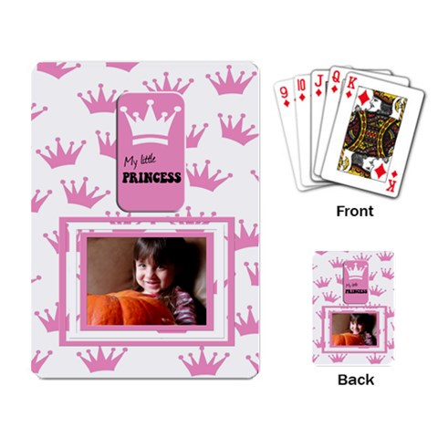 My Little Princess Cards By Carmensita   Playing Cards Single Design   78u7v57nfvcd   Www Artscow Com Back