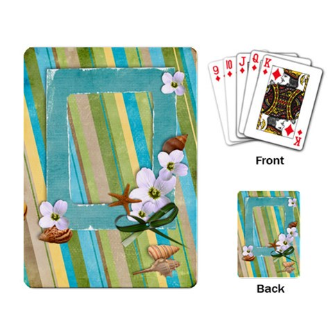 Playing Cards  Tropical, Holiday Template By Mikki   Playing Cards Single Design   I9hzxred3bcq   Www Artscow Com Back