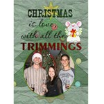 Christmas Card #2 - Greeting Card 5  x 7
