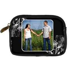 Black & White Camera Case By Lil    Digital Camera Leather Case   Jl3khtwqvu52   Www Artscow Com Front