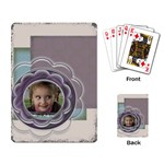 Flower cards - Playing Cards Single Design
