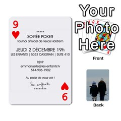 Lesenfants By Emmanuelle   Playing Cards 54 Designs   79uvlf34il03   Www Artscow Com Front - Heart9
