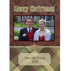 Victorian Christmas 3 5x7 Christmas Card By Ariana   Greeting Card 5  X 7    54jm5zj51zgh   Www Artscow Com Front Cover