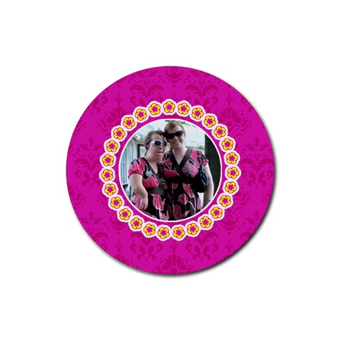 Pink Lemonade Round Coasters By Klh   Rubber Coaster (round)   Ler8mrxak2k4   Www Artscow Com Front