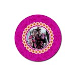 Pink Lemonade Round Coasters - Rubber Coaster (Round)