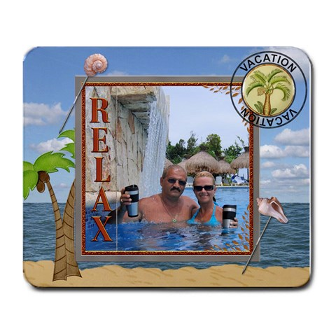 Vacation Mouse Pad By Lil    Large Mousepad   3x2ekbxw9d5s   Www Artscow Com Front