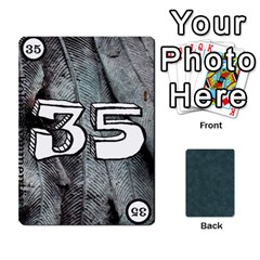 No Thanks335 By Mattias Bj?rnstr?m   Playing Cards 54 Designs (rectangle)   Kkl0d85kb42x   Www Artscow Com Front - Spade3