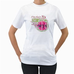 Monogram Shirt By Brookieadkins Yahoo Com   Women s T Shirt (white) (two Sided)   42qb6vnhs19p   Www Artscow Com Front