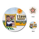 summer card - Playing Cards (Round)