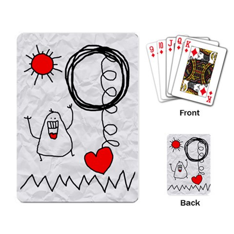 Garabatos Cards By Carol   Playing Cards Single Design   Izh2oeonj3ac   Www Artscow Com Back