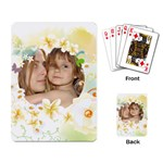 Flower Card - Playing Cards Single Design