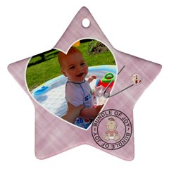 Baby Girl Ornament By Lil    Star Ornament (two Sides)   Cpwzu1vh3y8h   Www Artscow Com Back