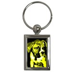 Yellow Boxer Key Chain - Key Chain (Rectangle)