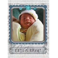 It s A Boy Card By Lil    Greeting Card 5  X 7    3kd3i73zx2kb   Www Artscow Com Front Cover