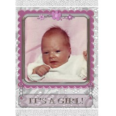 It s A Girl Card By Lil    Greeting Card 5  X 7    Skgj3pm28ebk   Www Artscow Com Front Cover