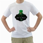 St. Patricks Day T-Shirt (see back of shirt) - Men s T-Shirt (White) (Two Sided)