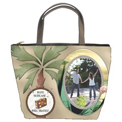 Tropical Travel Bucket Bag by Lil Front