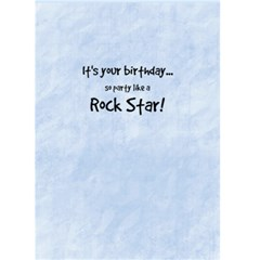 Rock Star Birthday 4 By Debra Macv   Greeting Card 5  X 7    Htzlgaxyixql   Www Artscow Com Back Inside